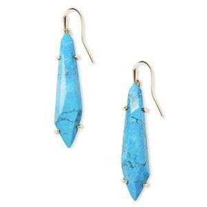 Kendra Scott Grey Drop Earrings Aqua Howlite